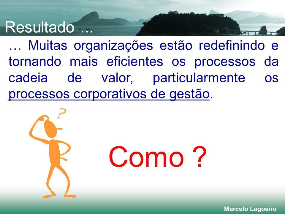 Marcelo Lagoeiro … Muitas organizações estão redefinindo e tornando mais eficientes os processos da cadeia de valor, particularmente os processos corporativos de gestão.