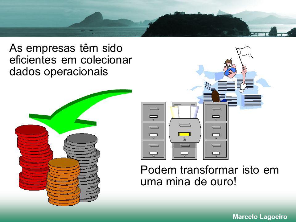 Marcelo Lagoeiro As empresas têm sido eficientes em colecionar dados operacionais Podem transformar isto em uma mina de ouro!