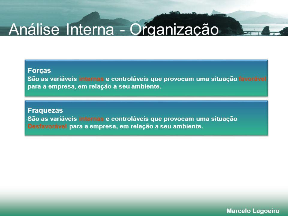 Marcelo Lagoeiro Fraquezas São as variáveis internas e controláveis que provocam uma situação Desfavorável para a empresa, em relação a seu ambiente.