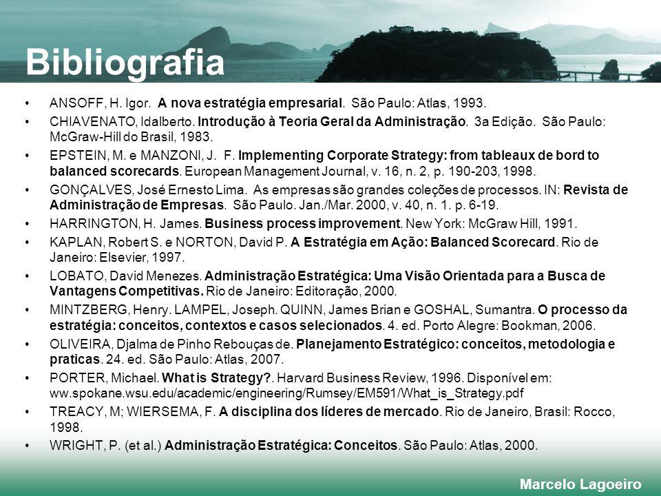 Marcelo Lagoeiro ANSOFF, H.Igor. A nova estratégia empresarial.