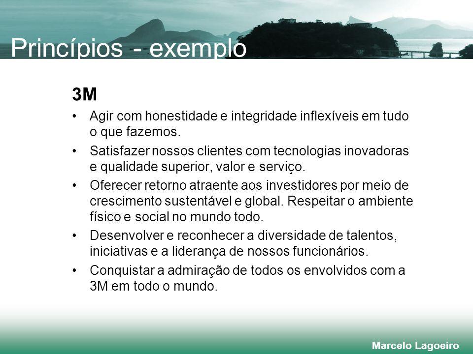 Marcelo Lagoeiro 3M Agir com honestidade e integridade inflexíveis em tudo o que fazemos.