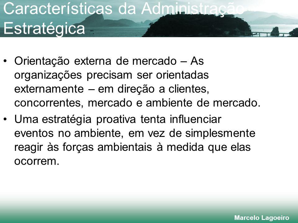 Marcelo Lagoeiro Liderança no Custo e Diferenciação Estratégia de liderança no custo (elevado volume, produto padronizado) Estratégia de diferenciação da imagem (p.