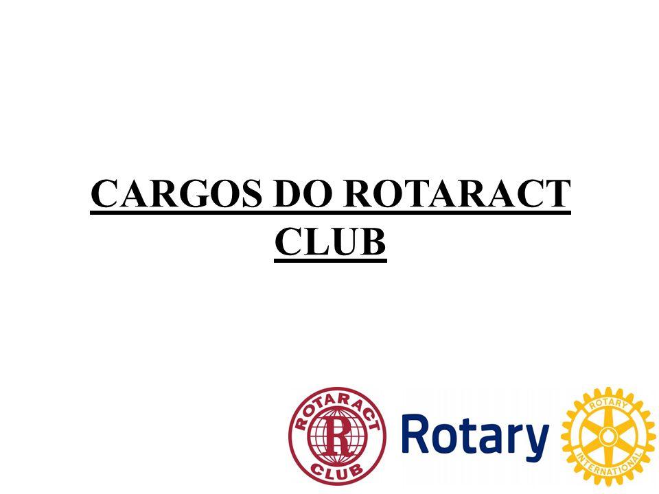 CARGOS DO ROTARACT CLUB DE ITAÚNA Presidente; Vice-Presidente (Presidente Gestão Seguinte); Secretário; Tesoureiro; Protocolo; Diretores de Comissões; Associados; Past-Presidentes; Membros Honorários.