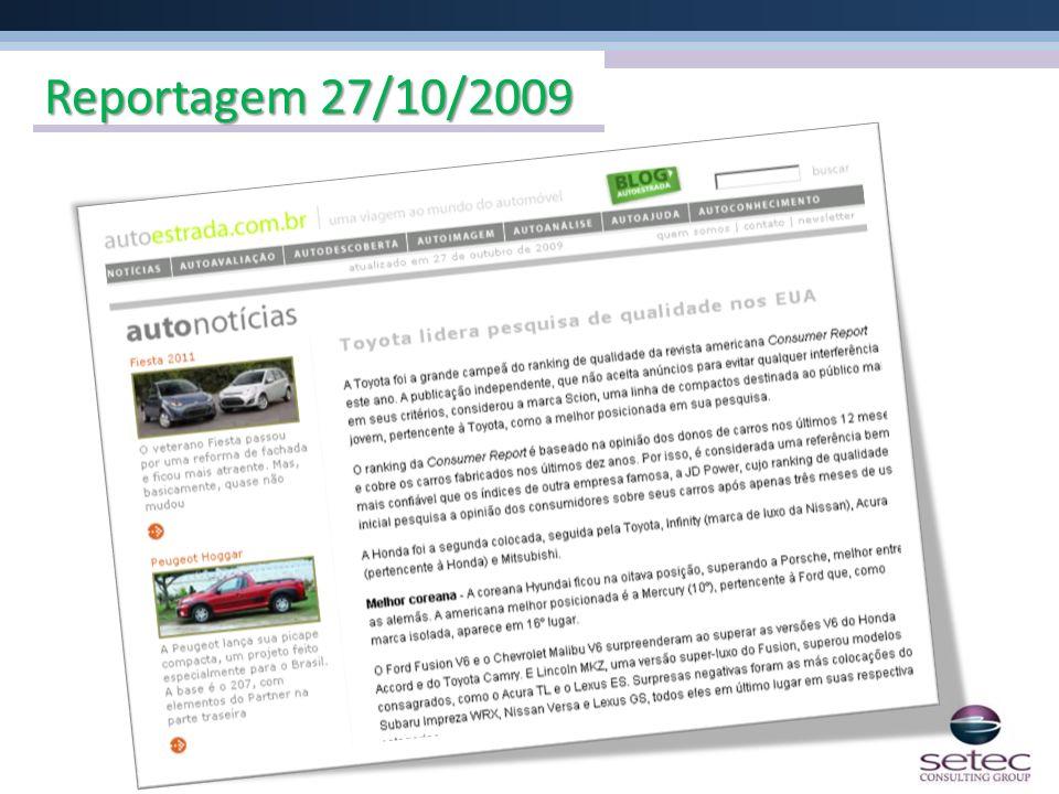 Reportagem 27/10/2009