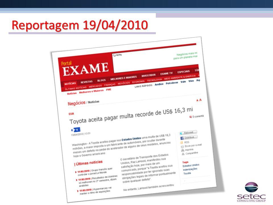 Reportagem 19/04/2010