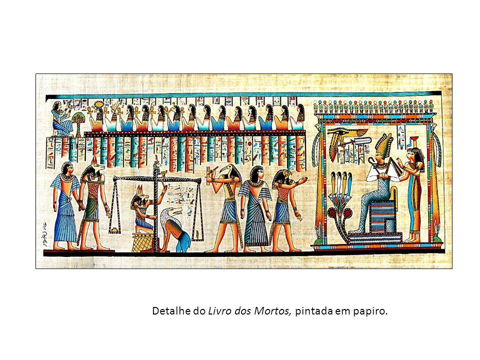 Detalhe do Livro dos Mortos, pintada em papiro.