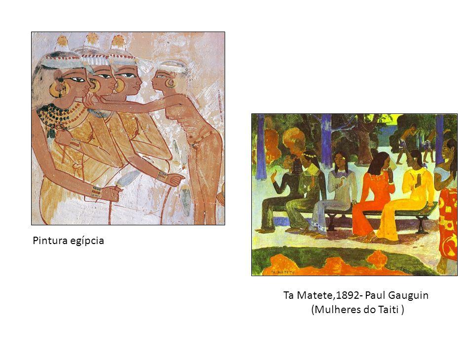 Ta Matete,1892- Paul Gauguin (Mulheres do Taiti ) Pintura egípcia