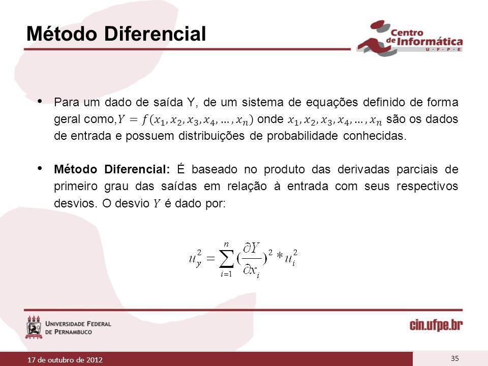 Método Diferencial 17 de outubro de 2012 35