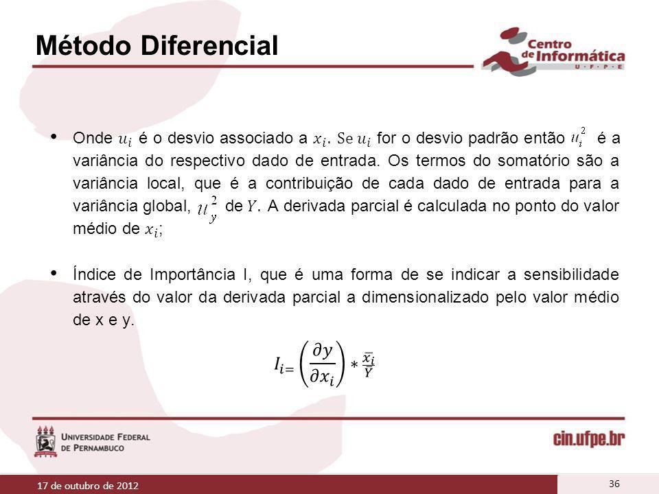 Método Diferencial 17 de outubro de 2012 36