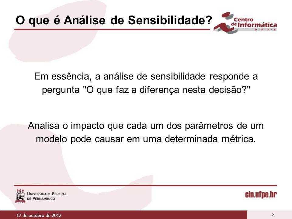 O que é Análise de Sensibilidade? Em essência, a análise de sensibilidade responde a pergunta