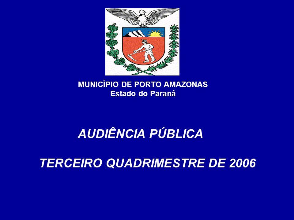 COMPARATIVO RECEITA ARRECADADA X DESPESA REALIZADA 3º QUADRIMESTRE DE 2006