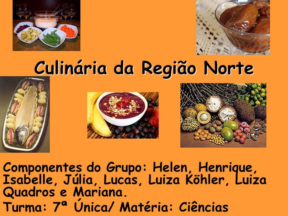 Introdução Este trabalho, tem como objetivo abordar os principais pratos típicos da região Norte.