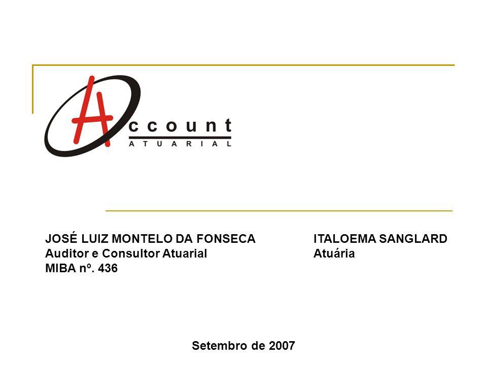 Setembro de 2007 ITALOEMA SANGLARD Atuária JOSÉ LUIZ MONTELO DA FONSECA Auditor e Consultor Atuarial MIBA nº. 436