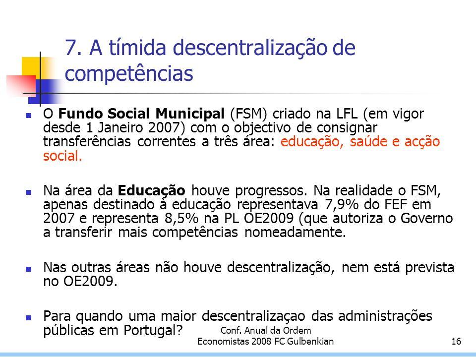 Conf. Anual da Ordem Economistas 2008 FC Gulbenkian16 7.