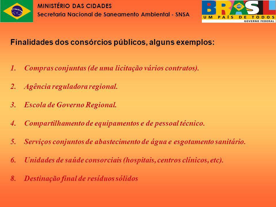 MINISTÉRIO DAS CIDADES Secretaria Nacional de Saneamento Ambiental - SNSA Lei nº11.107 Parte V Como constituir um consórcio público