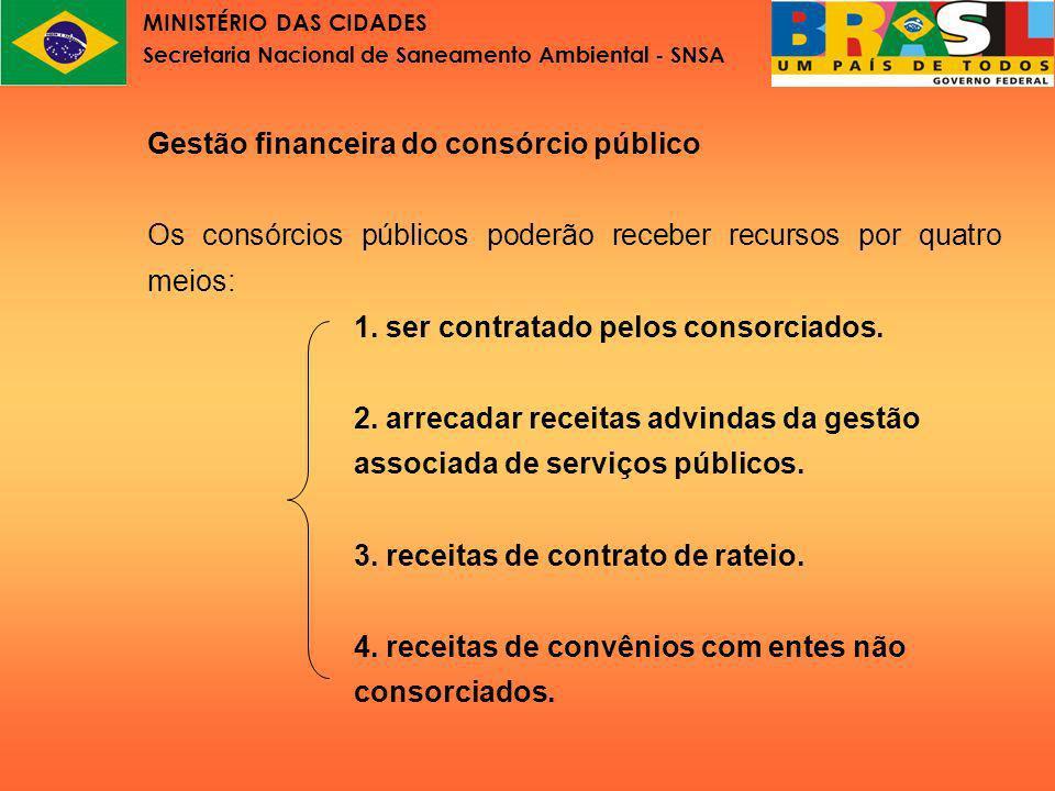 MINISTÉRIO DAS CIDADES Secretaria Nacional de Saneamento Ambiental - SNSA Lei nº11.107 Parte VII Gestão associada de serviços públicos