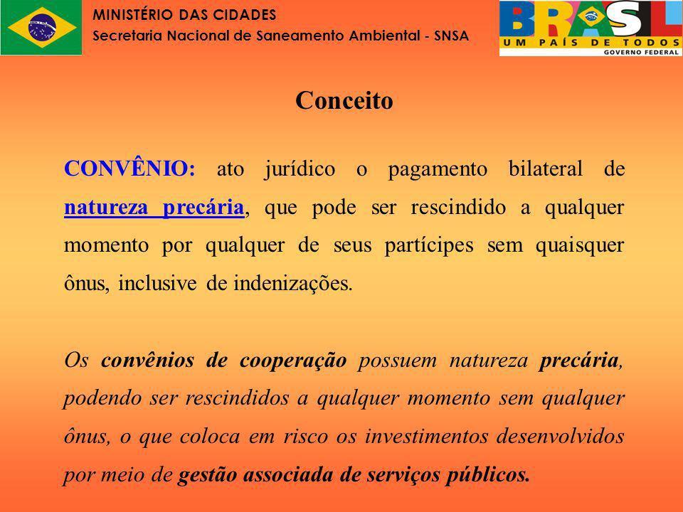 MINISTÉRIO DAS CIDADES Secretaria Nacional de Saneamento Ambiental - SNSA Lei de Consórcios Públicos Art.