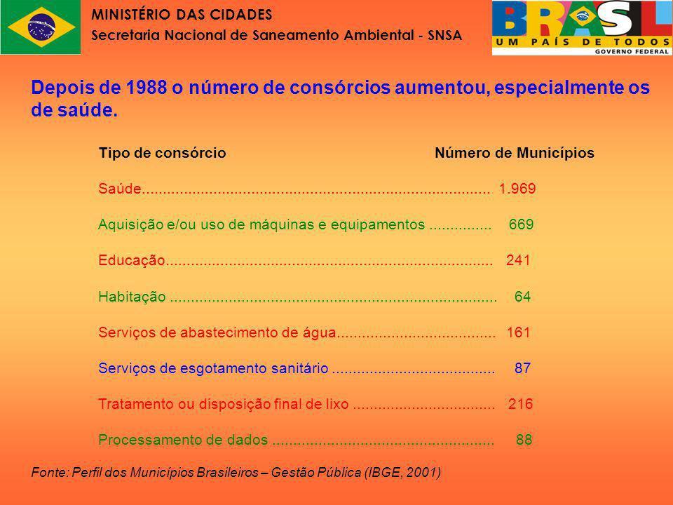 MINISTÉRIO DAS CIDADES Secretaria Nacional de Saneamento Ambiental - SNSA Evolução do instituto consórcio público no direito constitucional brasileiro – A Emenda Constitucional n.
