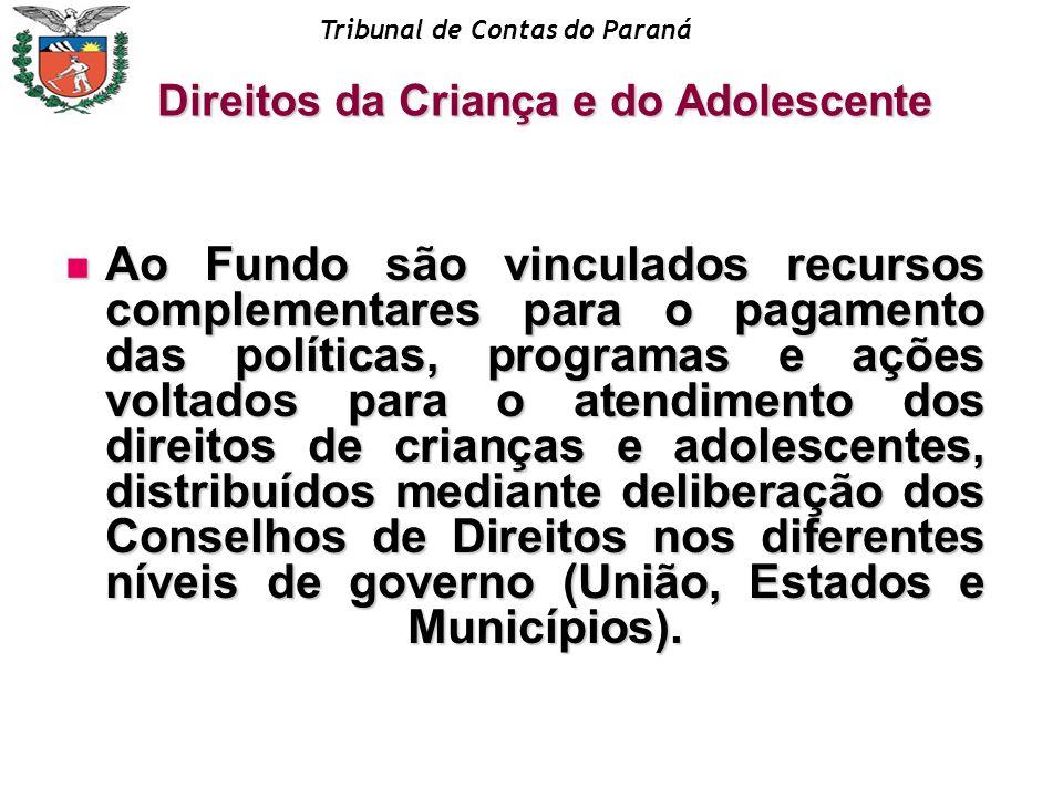 Tribunal de Contas do Paraná Direitos da Criança e do Adolescente PLANO PLURIANUAL Despesas decorrentes das despesas capital são as de manutenção, conservação e funcionamento que, durante a vigência do plano, passarão a ser necessárias como conseqüência dos investimentos e não incluídas no inciso seguinte