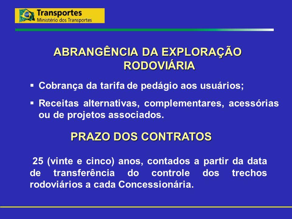 LOCALIZAÇÃO DAS PRAÇAS DE PEDÁGIO TRECHO 04 PRAÇALOCALIZAÇÃO RODOVIA: BR-101/RJ TRECHO: DIVISA ES/RJ – PONTE PRESIDENTE COSTA E SILVA EXTENSÃO: 320,80 KM P - 1 km 40 P - 2 km 121 P - 3 km 195 P - 4 km 250 P - 5 km 312 (1) (1) Cobrança unidirecional