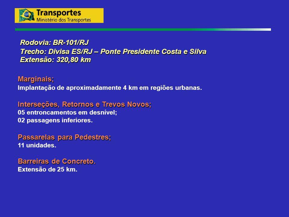 Rodovia: BR-101/RJ Rodovia: BR-101/RJ Trecho: Divisa ES/RJ – Ponte Presidente Costa e Silva Trecho: Divisa ES/RJ – Ponte Presidente Costa e Silva Exte