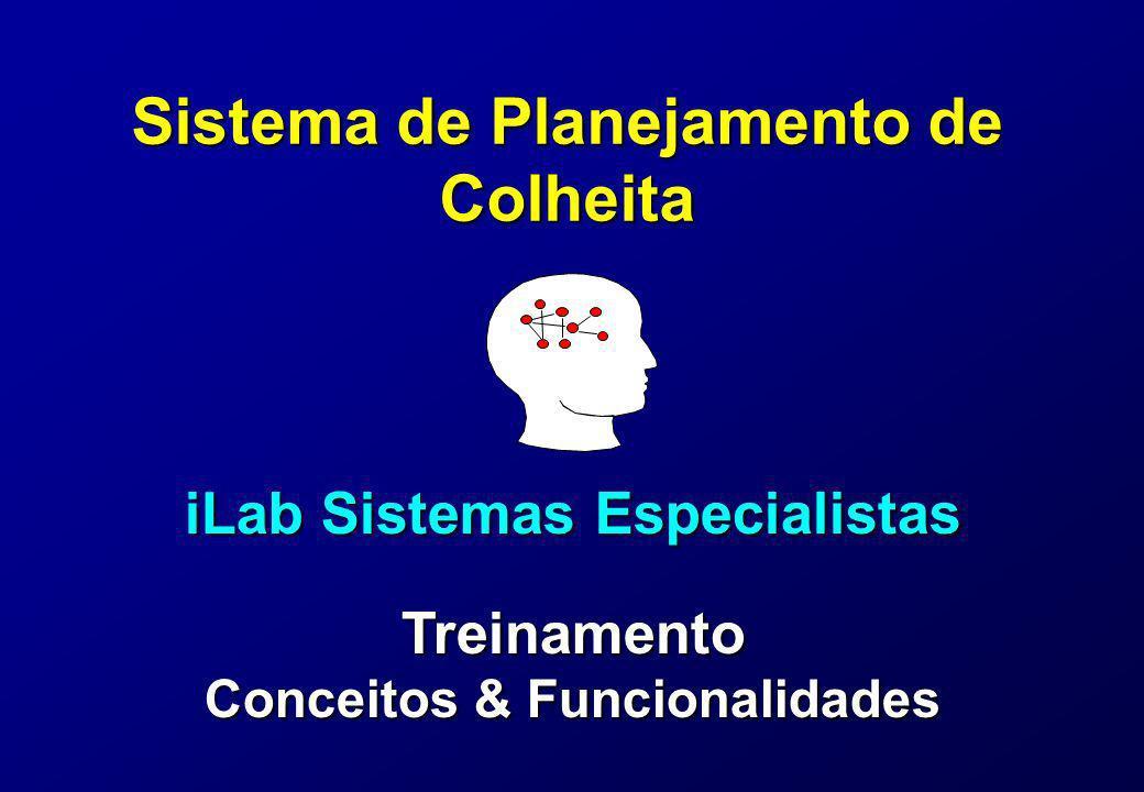 Sistema de Planejamento de Colheita iLab Sistemas Especialistas Treinamento Conceitos & Funcionalidades