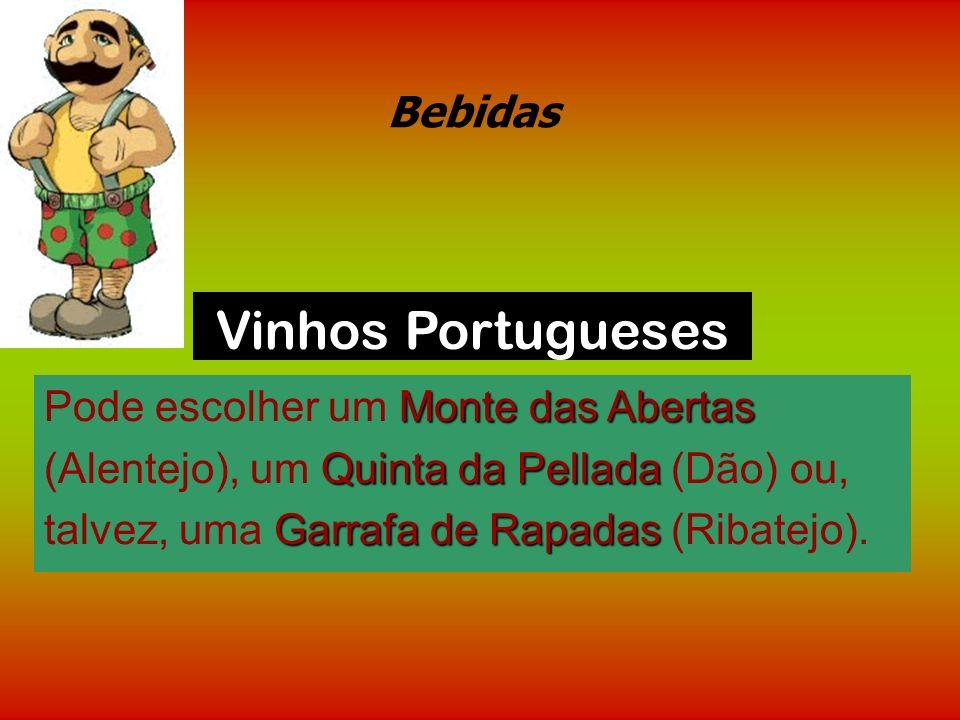 Bebidas Os vinhos são classificados por regiões e há para todos os gostos. Como no Brasil faz mais calor, talvez seja bom optar por um vinho com aspec