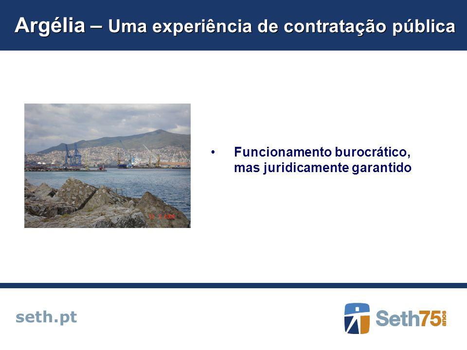 Argélia – Uma experiência de contratação pública seth.pt Funcionamento burocrático, mas juridicamente garantido