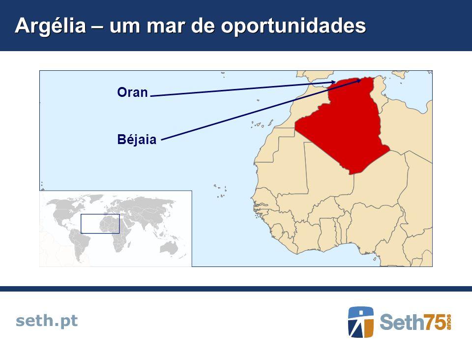 Argélia – um mar de oportunidades seth.pt Oran Béjaia