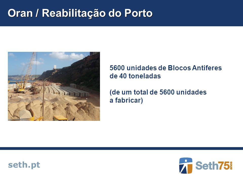 Oran / Reabilitação do Porto seth.pt 5600 unidades de Blocos Antiferes de 40 toneladas (de um total de 5600 unidades a fabricar)