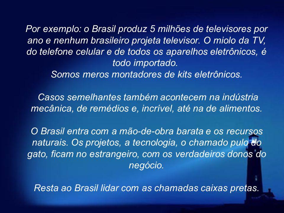 Creio que agora posso falar do ponto principal. Para que o nosso Brasil torne-se um País rico, com o seu povo vivendo com dignidade, temos que produzi
