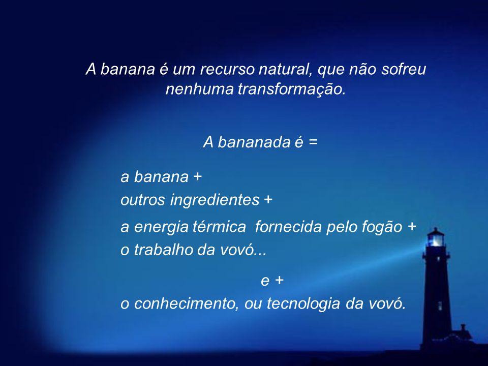 Para começar, vamos falar de bananas e do doce de banana, que eu vou chamar de bananada especial, inventada (ou projetada) pela nossa vovozinha lá em