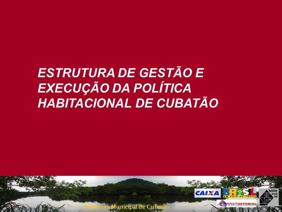 Prefeitura Municipal de Cubatão ESTRUTURA DE GESTÃO E EXECUÇÃO DA POLÍTICA HABITACIONAL DE CUBATÃO