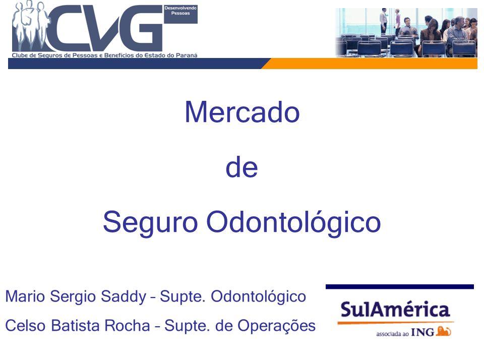 Mercado de Seguro Odontológico Mario Sergio Saddy – Supte. Odontológico Celso Batista Rocha – Supte. de Operações