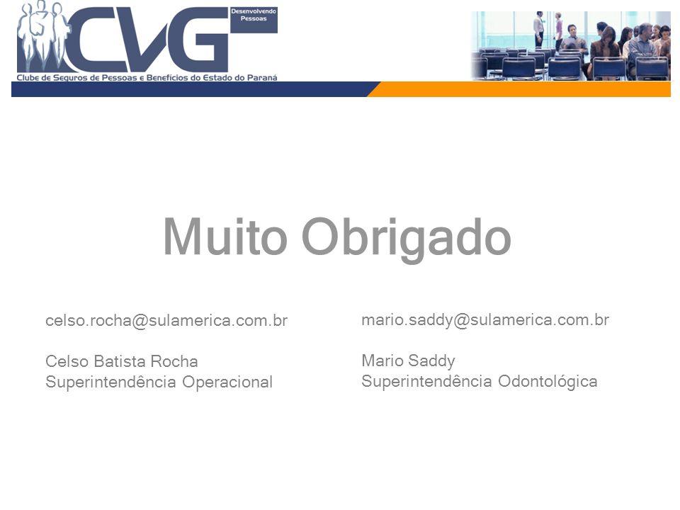 celso.rocha@sulamerica.com.br Celso Batista Rocha Superintendência Operacional Muito Obrigado mario.saddy@sulamerica.com.br Mario Saddy Superintendênc