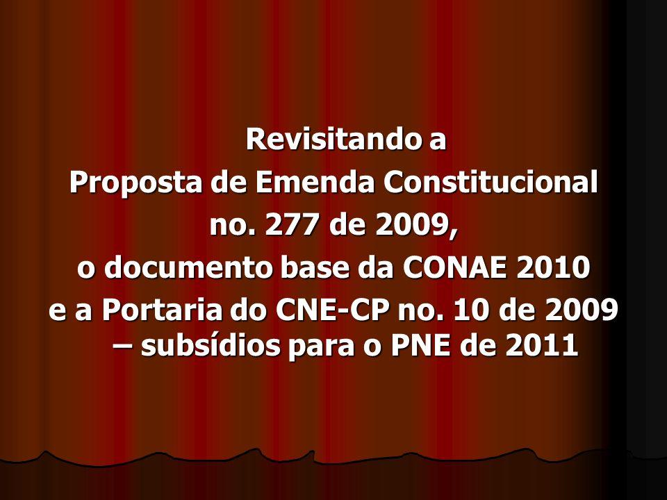 Revisitando a Proposta de Emenda Constitucional no.