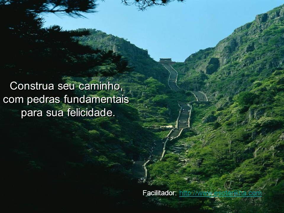 Construa seu caminho, com pedras fundamentais para sua felicidade. Construa seu caminho, com pedras fundamentais para sua felicidade. Facilitador: htt