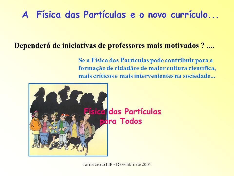 Jornadas do LIP - Dezembro de 2001 A Física das Partículas e outros currículos...
