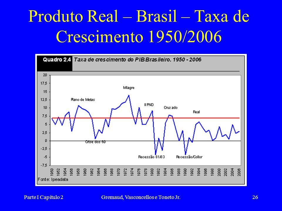Parte I Capítulo 2Gremaud, Vasconcellos e Toneto Jr.25 Real e Nominal Índices de preços - retira os efeitos da inflação sobre a medida do produto. Cor