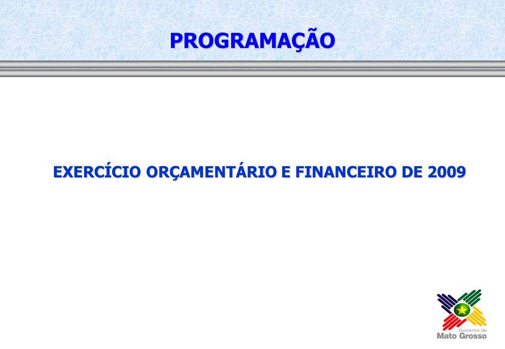 EXERCÍCIO ORÇAMENTÁRIO E FINANCEIRO DE 2009 PROGRAMAÇÃO