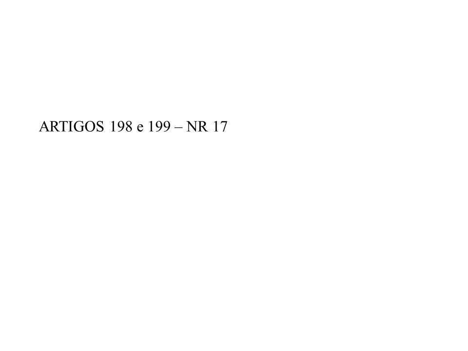 ARTIGOS 198 e 199 – NR 17