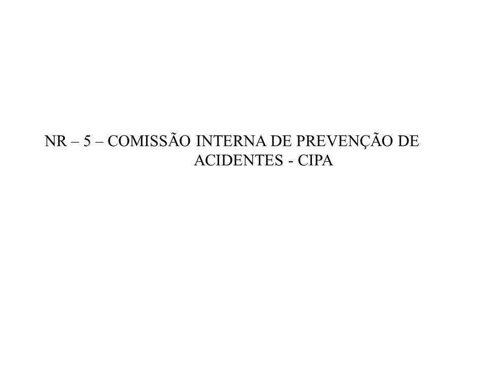 NR – 5 – COMISSÃO INTERNA DE PREVENÇÃO DE ACIDENTES - CIPA