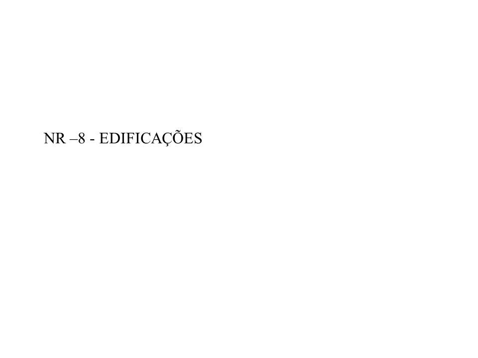 NR –8 - EDIFICAÇÕES