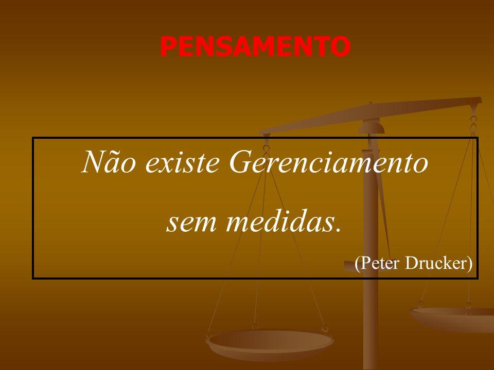 Não existe Gerenciamento sem medidas. (Peter Drucker) PENSAMENTO