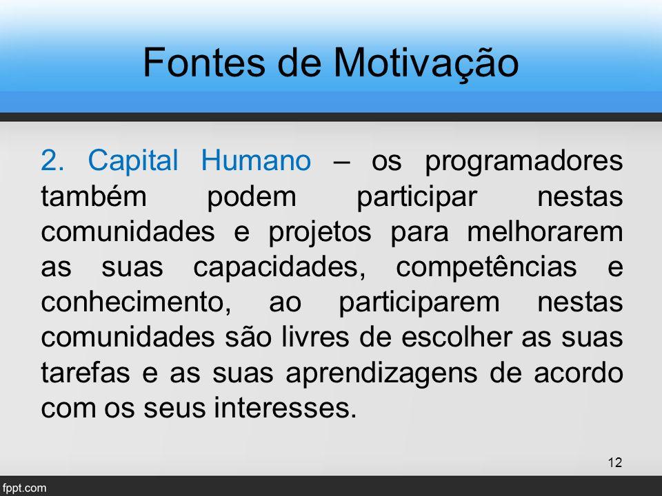 Fontes de Motivação 2.