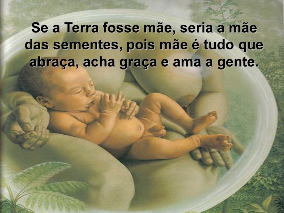 Se a Terra fosse mãe, seria a mãe das sementes, pois mãe é tudo que abraça, acha graça e ama a gente.