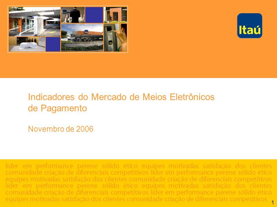 1 Indicadores do Mercado de Meios Eletrônicos de Pagamento Novembro de 2006
