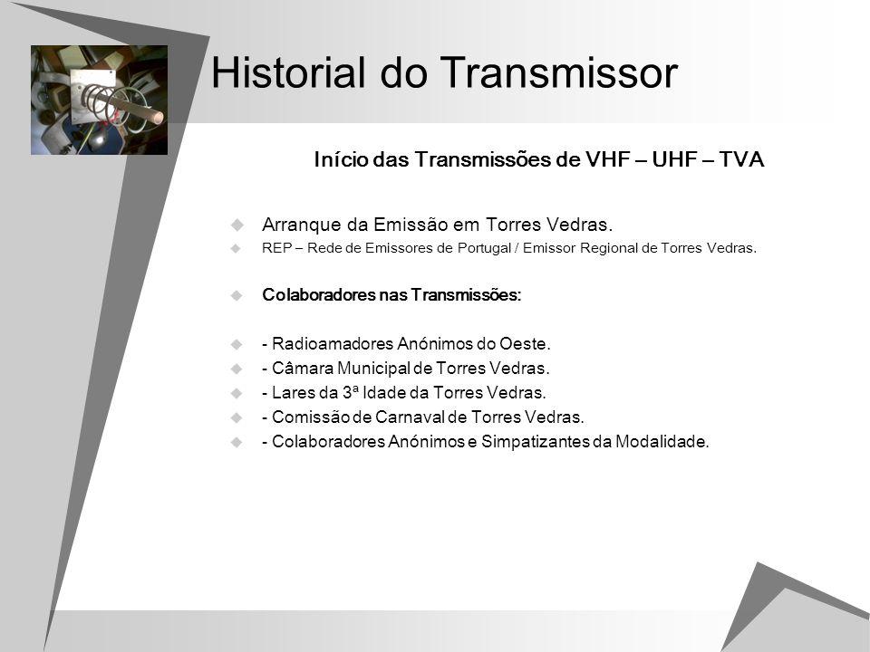 Frequências de Emissão Repetidor de VHF: Entrada: - 145.187,5 Mhz Saída: - 145.787,5 Mhz.
