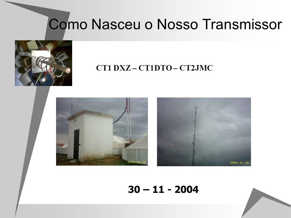 Análise Tipos de Emissão Emissão Experimental de VHF.