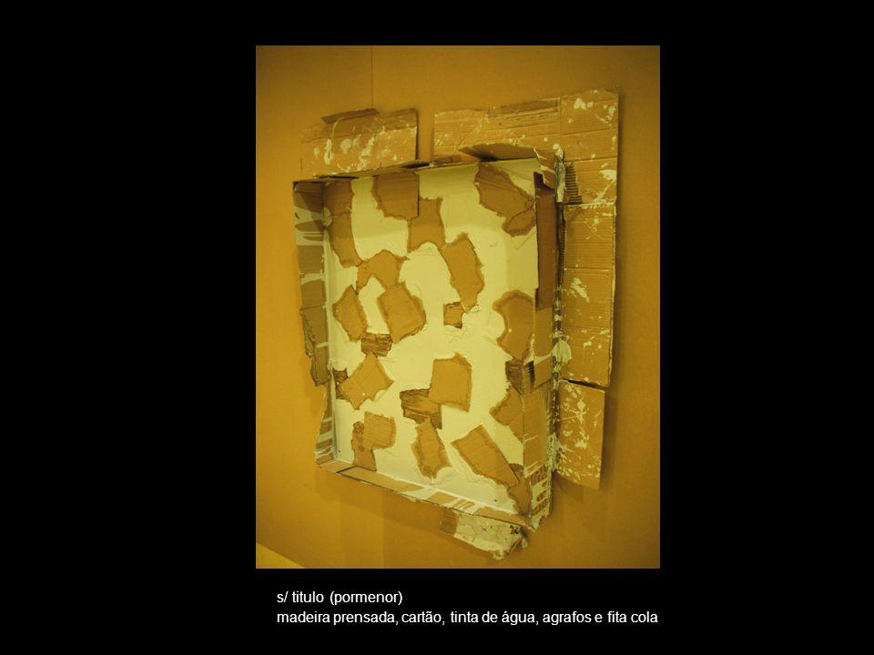 s/titulo (2009) Dimensões: 125cm/ 155cm Madeira prensada, cartão, tinta de água, agrafos e fita-cola